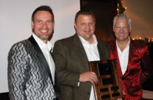 OnTarget Partners Associate of Year, 2015 -- Kenny Gammons with Scott Bratcher and Ed Trachier