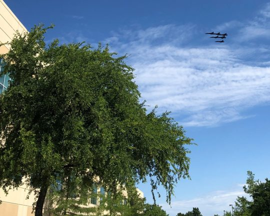 Blue Angels over Frisco, Texas, in tribute to frontline workers during Coronavirus pandemic, 05-06-2020