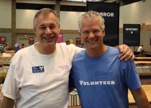 Ed Trachier, Founder and CEO of OnTarget with Scott Johnson, President of Friends of the Plano Public Library